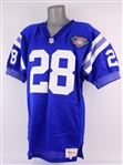 1994 Marshall Faulk Indianapolis Colts Secretarial Signed Home Jersey (MEARS LOA) Rookie Season