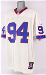 2001 Aaron Schobel Buffalo Bills Road Jersey (MEARS LOA)