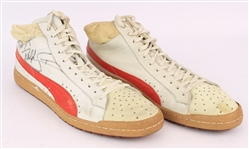 1983-85 Ralph Sampson Houston Rockets Signed Puma Game Worn Sneakers (MEARS LOA/JSA)