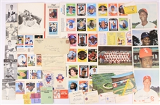 1930s-70s Chicago White Sox Memorabilia Collection - Lot of 50+ w/ Jocko Conlan Release Form, Photos, Postcards, Stubs & More