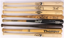 1983-2019 Milwaukee Brewers Professional Model Game Used Bats - Lot of 8 w/ Rick Manning, Casey McGehee, Lorenzo Cain & More (MEARS LOA)
