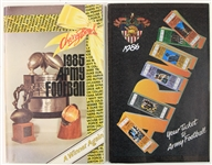 1985-86 Army Black Knights Football Media Guides - Lot of 2