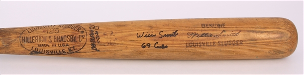 1968-69 Willie Smith Chicago Cubs Signed H&B Louisville Slugger Professional Model Game Used Bat (MEARS LOA/JSA)