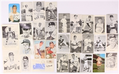 1950s-80s Baseball Football Trading Cards Postcards & Photos - Lot of 85 w/ 35 Signed (JSA)