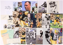 1960s-2000s Green Bay Packers Trading Cards & Photos - Lot of 350+ w/ 175+ Signed