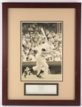 "1970s Mickey Mantle New York Yankees 20"" x 26"" Framed Legends of the Game Photo Display"