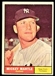 1961 Mickey Mantle New York Yankees Topps Baseball Trading Card