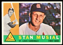 1960 Stan Musial St. Louis Cardinals Topps Baseball Trading Card