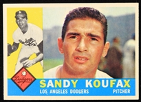 1960 Sandy Koufax Los Angeles Dodgers Topps Baseball Trading Card