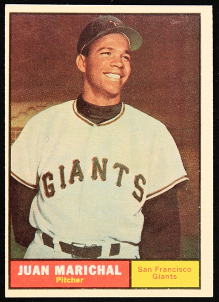 1961 Juan Marichal San Francisco Giants Topps Rookie Baseball Trading Card