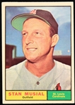 1961 Stan Musial St. Louis Cardinals Topps Baseball Trading Card