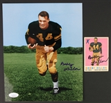 "2000s Bobby Dillon Green Bay Packers Signed 8"" x 10"" Photo & 1959 Topps Football Trading Card - Lot of 2 (JSA)"