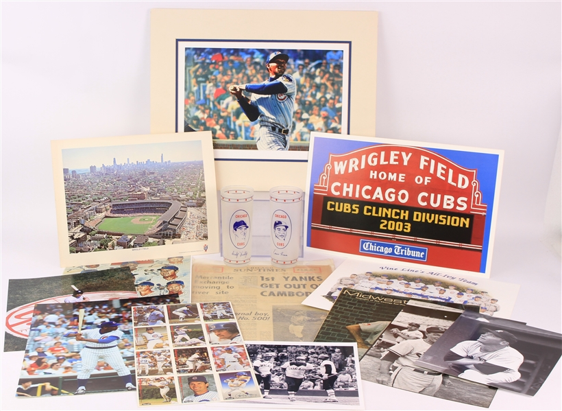 1960s-2000s Chicago Cubs Programs, Magazines, Photos, & more (Lot of 30+)