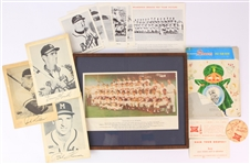 1950s-60s Milwaukee Braves Memorabilia Collection - Lot of 14 w/ Team Photos, Player Photos & More