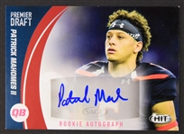 2017 Patrick Mahomes Kansas City Chiefs Signed Sage Premier Draft Rookie Autograph Football Trading Card (JSA)