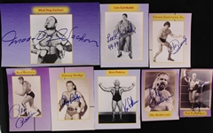 2000s Old School Wrestler Signed Photo Collection - Lot of 8 w/ Ken Patera, Ole Anderson, Chavo Geurrero Sr., Mad Dog Vachon & More (JSA)